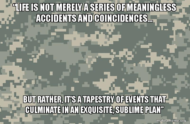 Life is not merely a series of meaningless accidents and