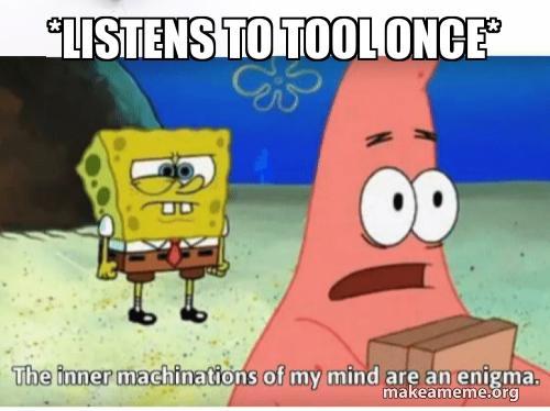 Listens to tool once*   Make a Meme