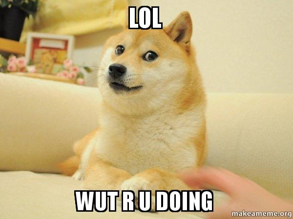 lol wut r lol wut r u doing doge make a meme