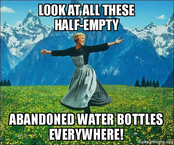 Water Bottle Neck Meme: Look At All These Half-empty Abandoned Water Bottles