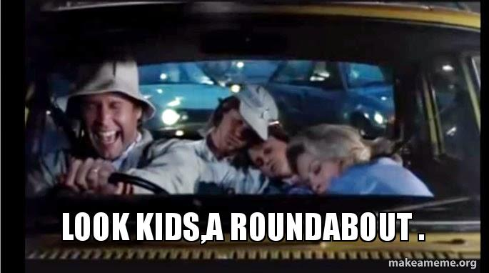 look kidsa roundabout look kids,a roundabout make a meme