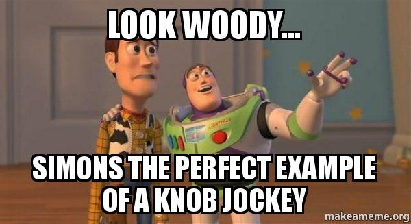 buzz and woody toy story meme look woody simons the perfect example of ...