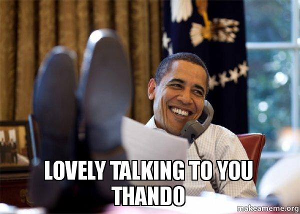 lovely talking to lovely talking to you thando make a meme