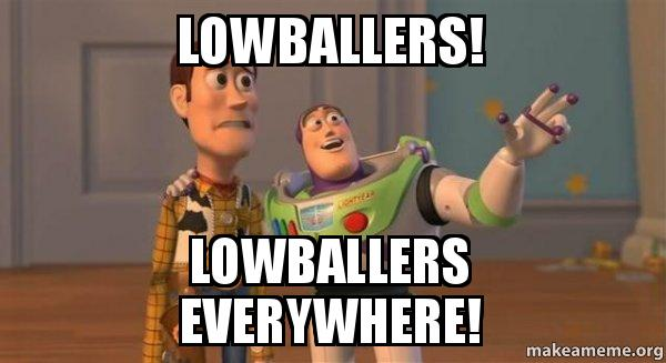 ... LOWBALLERS EVERYWHERE! - Buzz and Woody (Toy Story) Meme | Make a Meme