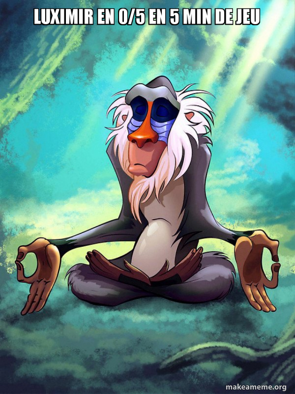 Rafiki Meditating - Lion King meme