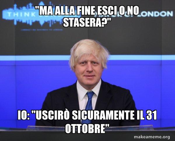 Boris Johnson  Brexit meme