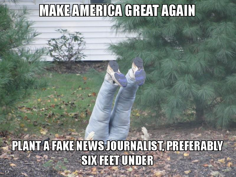 Make America Great Again Plant A Fake News Journalist Preferably Six Feet Under