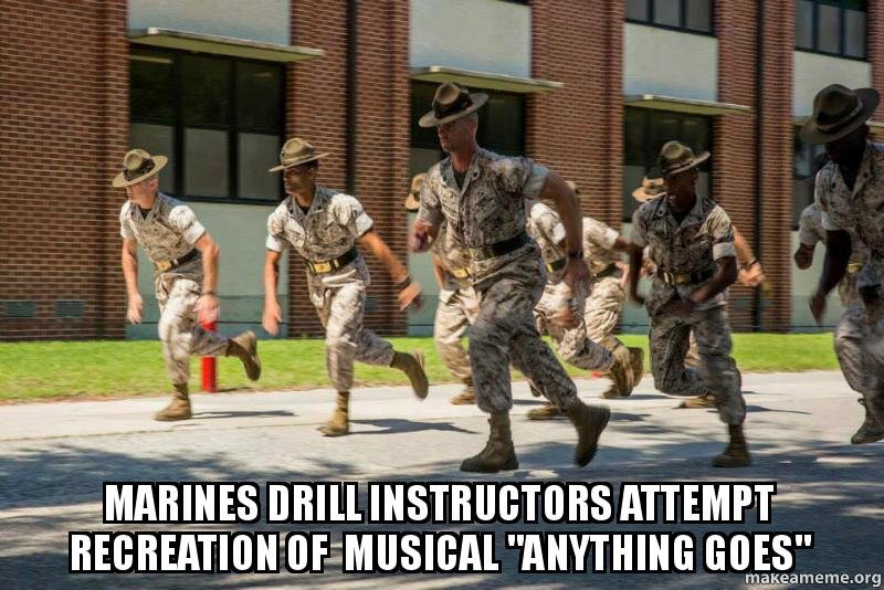 Marines Drill instructors attempt recreation of Musical ...