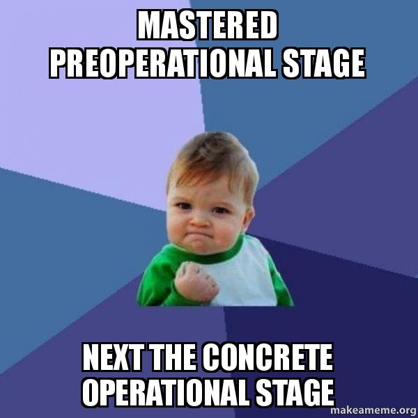 What is the preoperational stage
