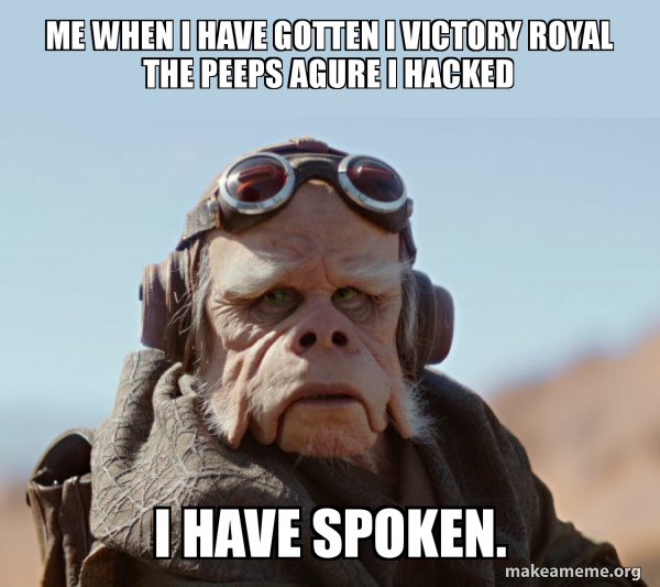 The Mandalorian - I Have Spoken  meme