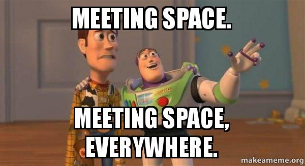 ... space, everywhere. - Buzz and Woody (Toy Story) Meme | Make a Meme