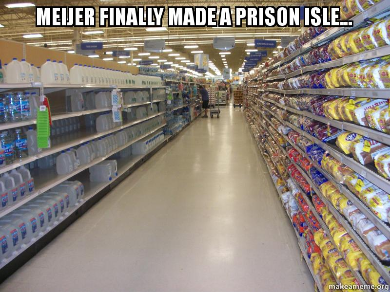 Meijer finally made a prison isle... | Make a Meme