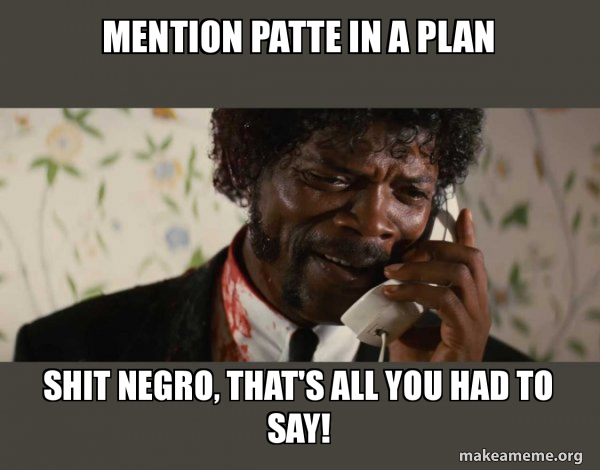 Shit Negro - Pulp Fiction meme
