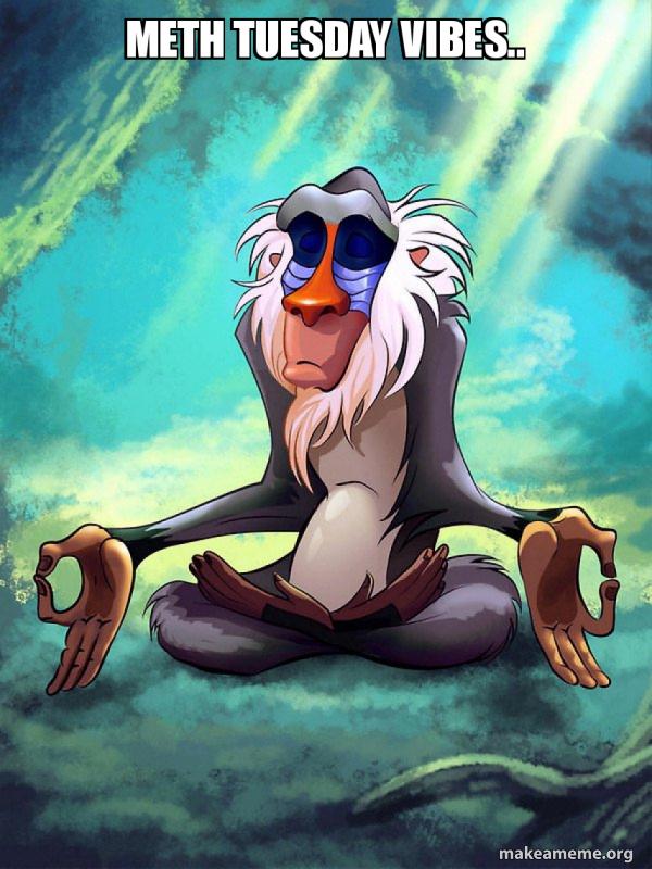 Rafiki Meditating - Lion King meme
