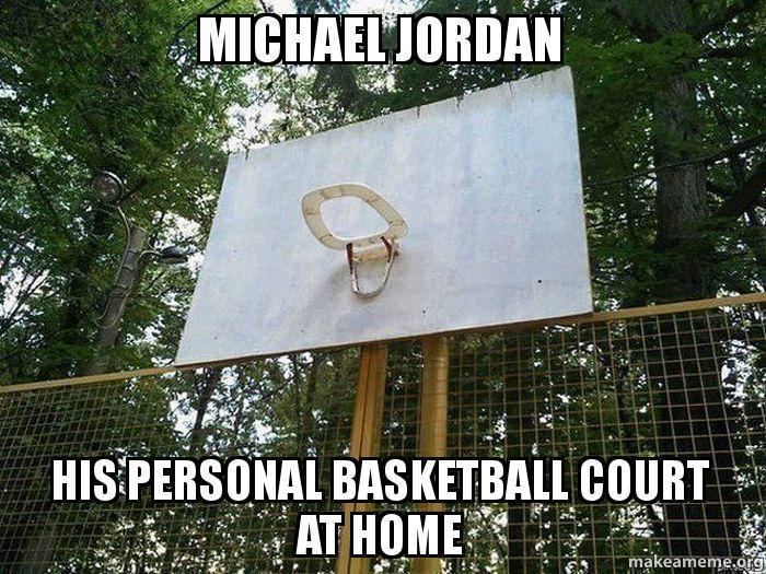 Michael jordan his personal basketball court at home for Personal basketball court