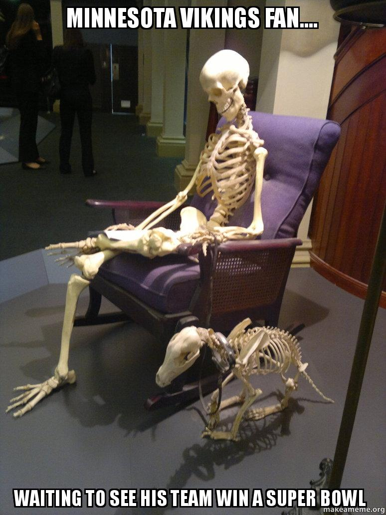 Minnesota Vikings Fan Waiting To See His Team Win A Super Bowl