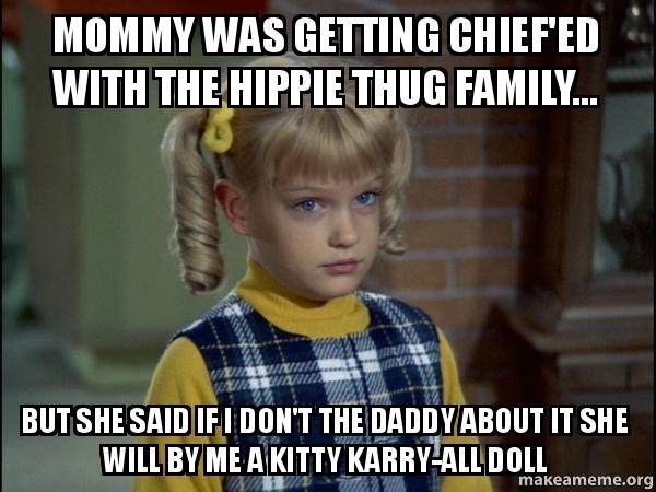 Mommy Was Getting Chiefed With The Hippie Thug Family But She
