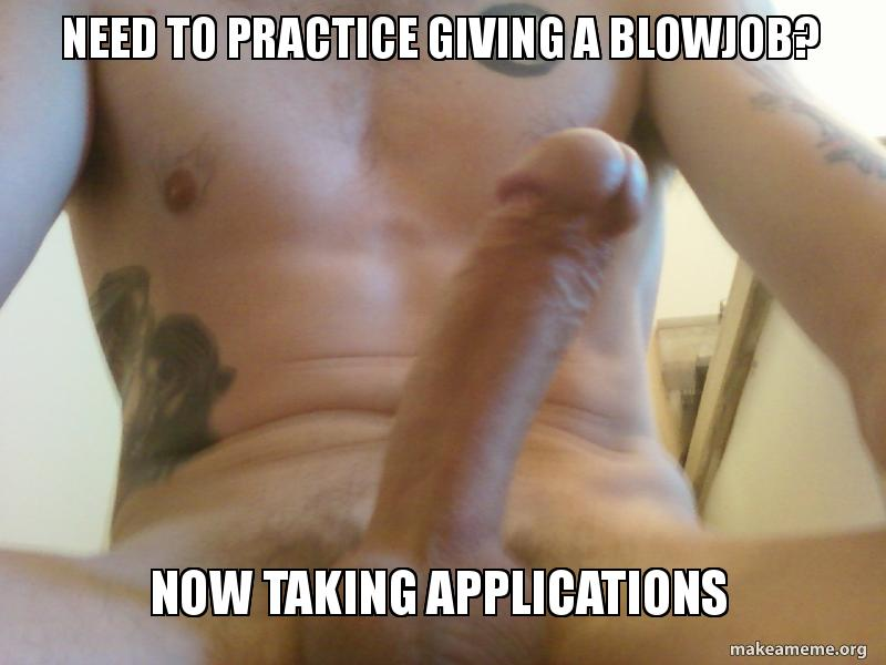 practice giving a blowjob