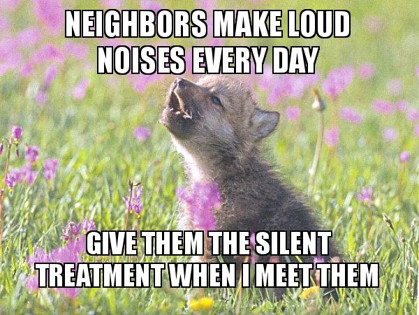 Neighbors make loud noises every day Give them the silent