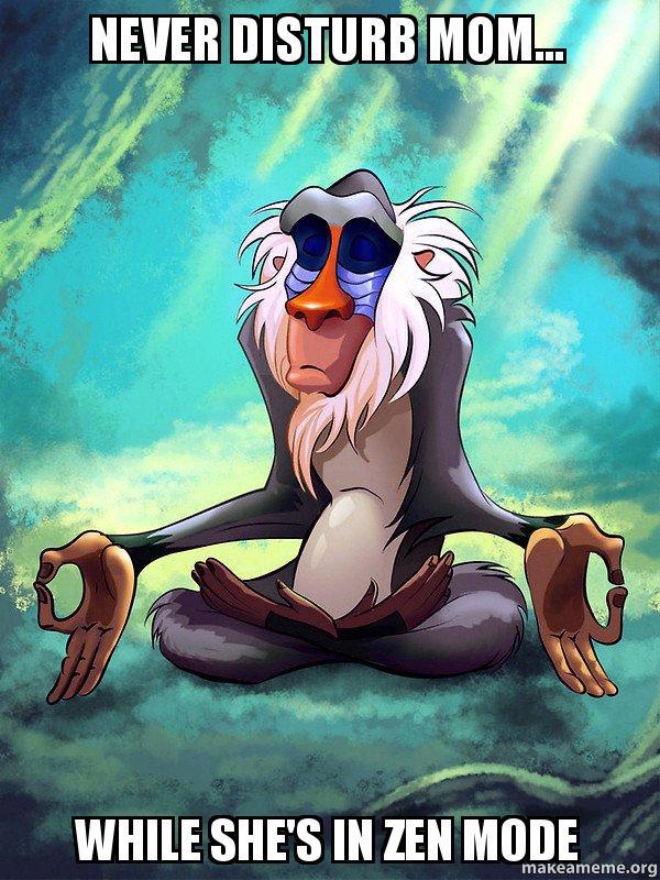 Rafiki Meditating , Lion King meme