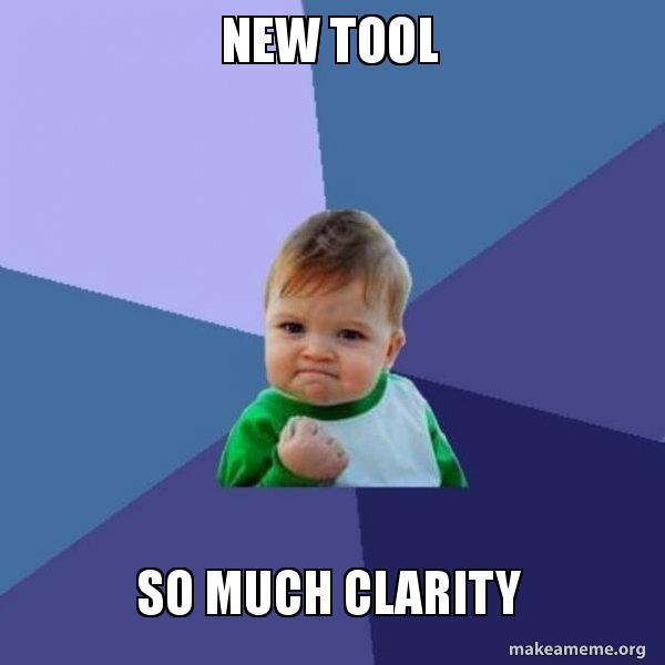 NEW TOOL So much clarity - Success Kid   Make a Meme