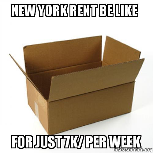 New York Rent Be Like For Just 7k/ Per Week -
