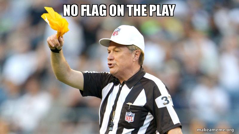 Image result for no flag on the play