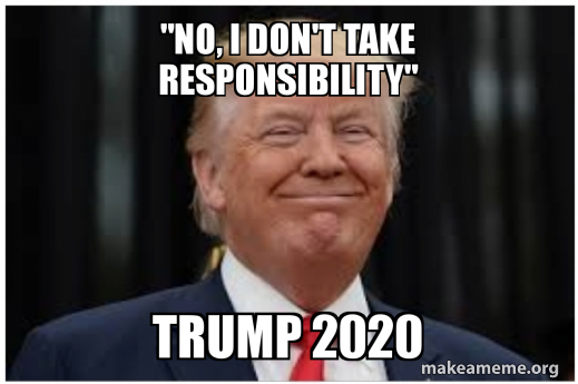 No I Don T Take Responsibility Trump 2020 Make A Meme