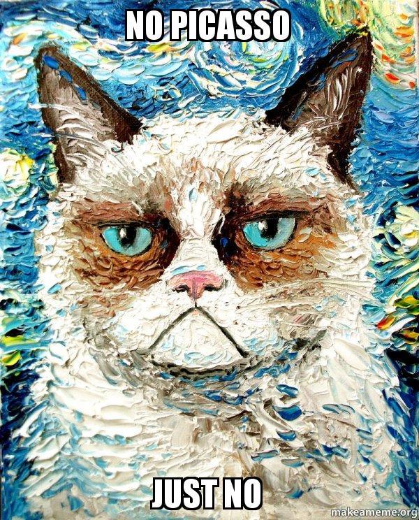 No Picasso Just NO - Vincent Van No - Grumpy Cat | Make a Meme