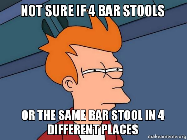 Not Sure If 4 Bar Stools Or The Same Bar Stool In 4