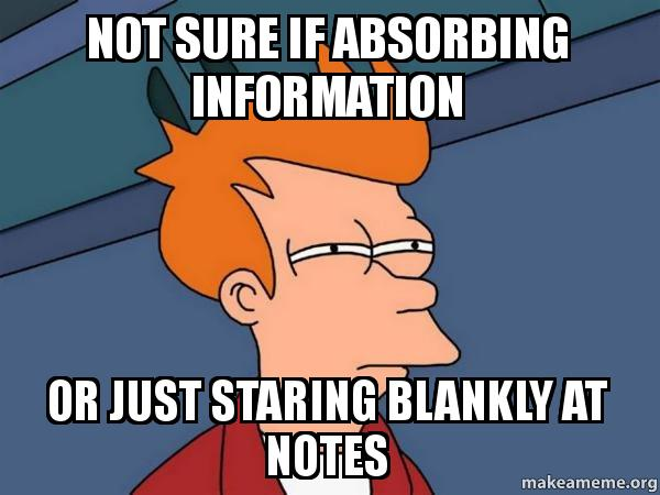Not sure if absorbing ...