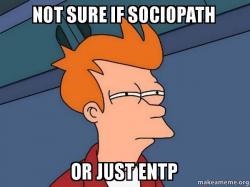 not sure if sociopath or just entp - Futurama Fry | Make a Meme