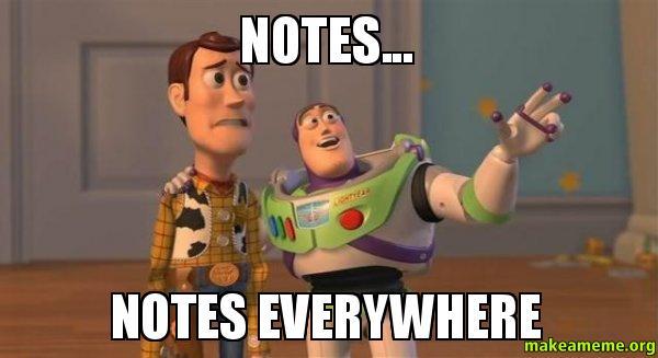 Image result for notes meme