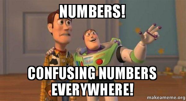 ... numbers everywhere! - Buzz and Woody (Toy Story) Meme | Make a Meme