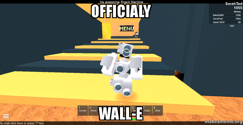 Officialy Wall E Roblox Wall E Make A Meme