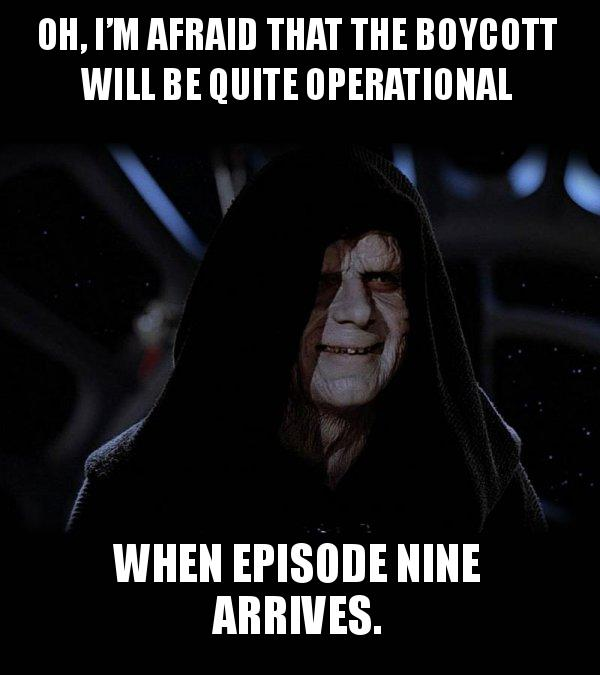 Oh, I'm afraid that the boycott will be quite operational