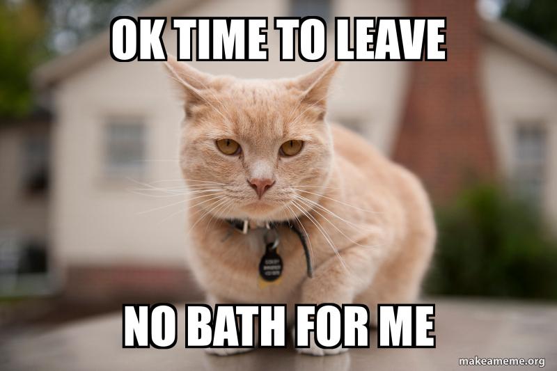 Ok Time To Leave No Bath For Me Make A Meme