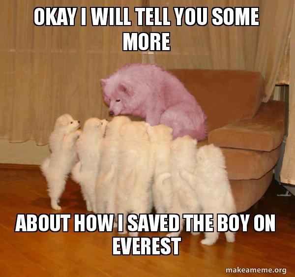 Malicious Storytelling Dog meme