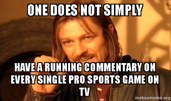 One does not simply have a running commentary on every for Simply singles