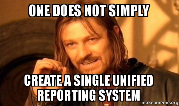 One does not simply create a single unified reporting for Simply singles