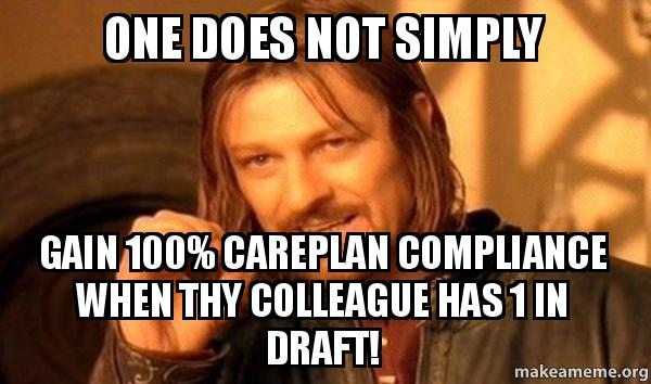 Compliance Meme: One Does Not Simply Gain 100% Careplan Compliance When Thy
