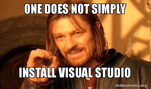 Image result for visual studio  memes