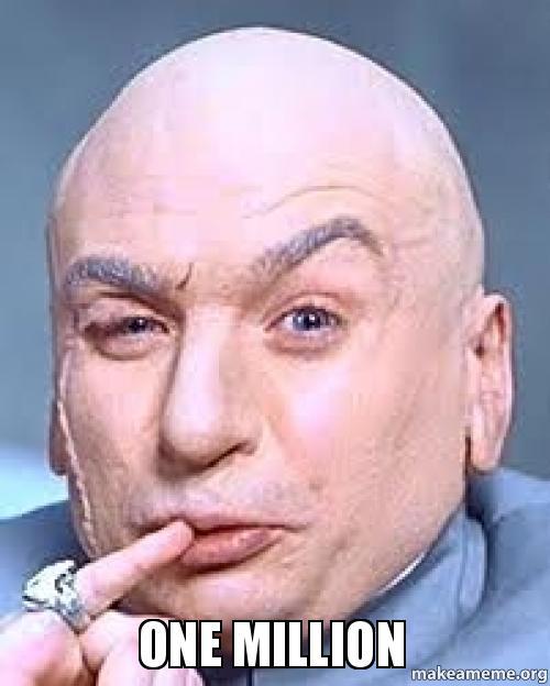 Image result for dr. evil one million