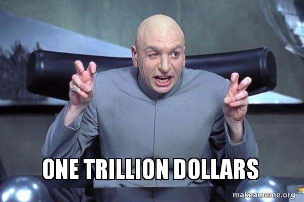 ONE TRILLION DOLLARS - Dr Evil Austin Powers | Make a Meme