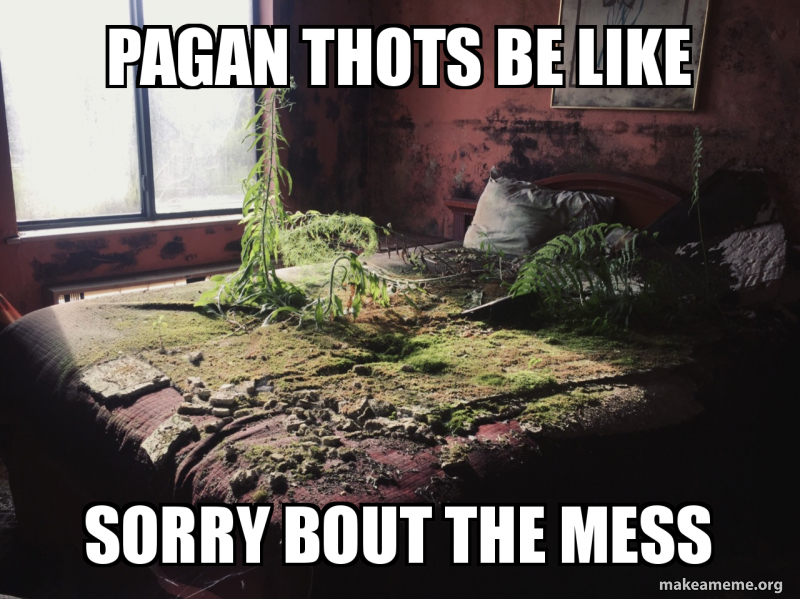 Pagan Thots Be Like Sorry Bout The Mess Make A Meme