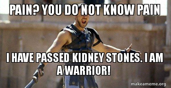 Pain You Do Not Know Pain I Have Passed Kidney Stones I Am A