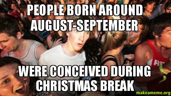 people born around august-september were conceived during ...