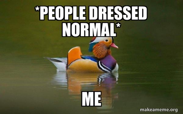Fashionable Advice Mallard meme