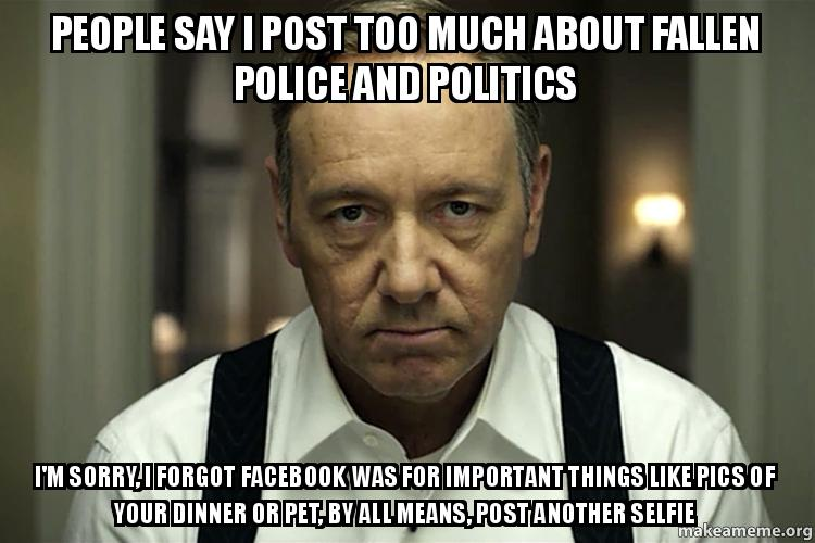 too many selfies on facebook