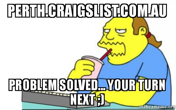 Craigs list perth